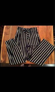 H&M Striped Wide Leg Pants (Size 8)