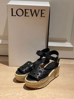 全新Loewe黑色草編鞋,歐碼38