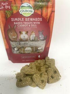 Oxbow hamster rabbit chinchillas guinea pig food snack treats carrot and dill hay sample pack