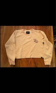 Peace Collective Blush Pink Cropped Sweater (Size S)