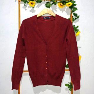 PREMIUM Zara maroon cardigan
