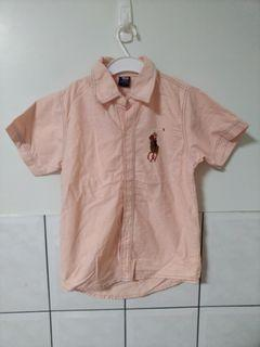 (二手)小童Ralph Lauren淡橘色POLO-6