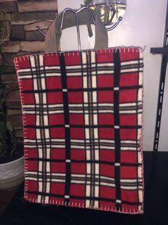 Red Plaid Bag