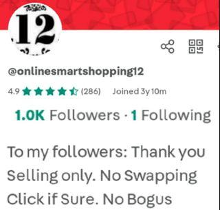 Thank you 1,000 followers