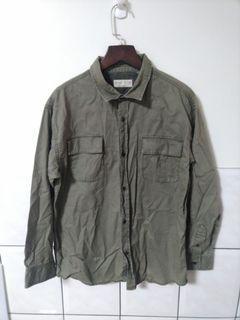 (二手)ZARA BOYS男童軍綠色襯衫-140