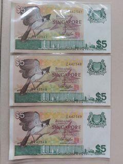 3 runs AUNC Bird $5