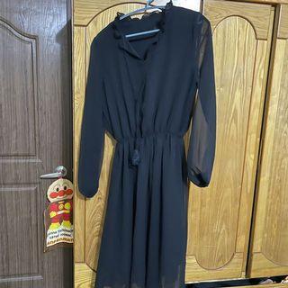 黑 透膚 洋裝 韓貨