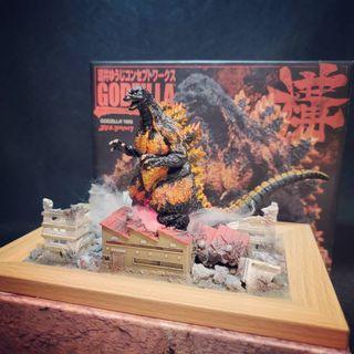 【怪獸天團】現貨 哥吉拉 酒井系列 構 1995 紅蓮哥吉拉 盒玩 名鑑 附自製場景