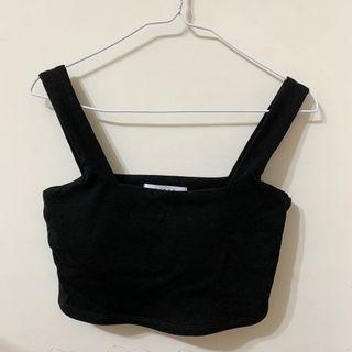 全新🌶️ 方領胸墊背心 bra top 黑