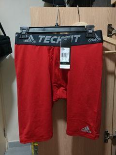 Adidas techfit shorts red 緊身 打底 短褲