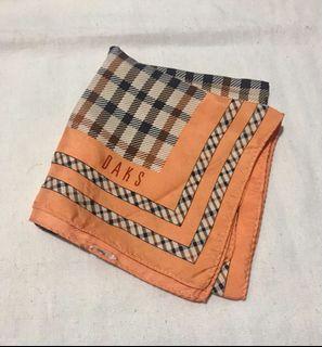 Authentic DAKS Silk Square Scarf/Neckerchief