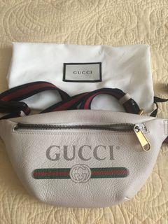 Authentic Gucci Leather belt bag