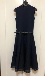 Blue Label Crestbridge 深藍色洋裝 (36碼)