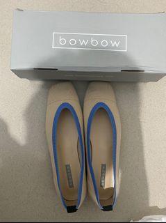 bowbow fabric ballet flat in cream