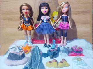 Bratz Dolls set sale Yasmin Sport, Strut It Jade , Birthday Bash Cloe doll