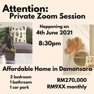 Damansara property RM900+ MONTHLY