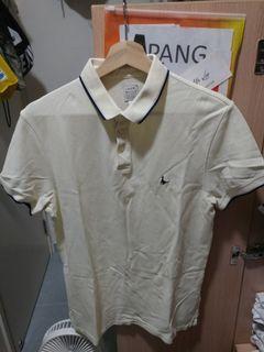 Jack Wills JW polo shirt light yellow 淺黃 反領 裇衫