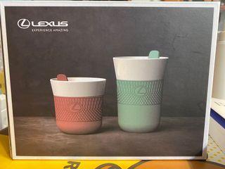 LEXUS聯名款 BergHOFF瓷器即飲隨行杯(附蓋)兩個一組
