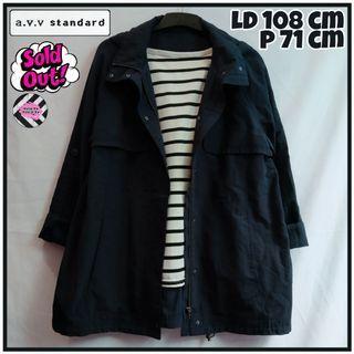 Long Parka Navy Jaket Parka Hoodie Navy|Tags: Coat Outer Sweater Blazer Cardigan Jaket Thrift