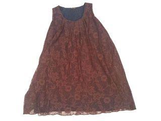 Minidress / Dress Lace Bigsize Dress jumbo/ Dress Cokelat
