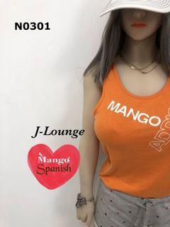 N0301 全新Mango運動風格內搭外穿背心健身跑步重訓(橘)sports tank J-Lounge