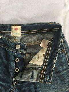 Somet Jeans Denim Japan non Selvedge Selvage Second Preloved Bekas Thrift