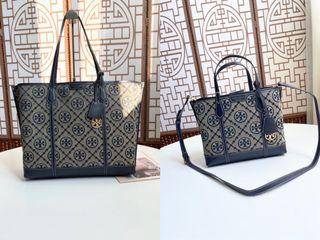 Tory Burch Perry t-monogram canvas top/handle shoulderbag handbag