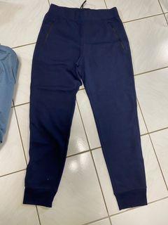 (全新)Uniqlo 深藍棉質長褲 M