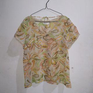 Yellow Flower Blouse Top