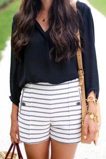Zara Nautical Shorts M