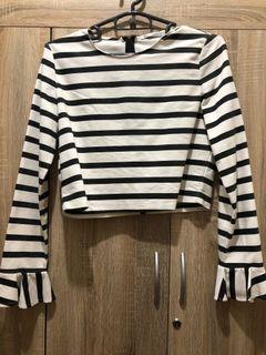 Zara Cropped Long sleeves Top