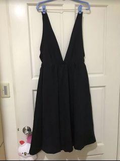 正韓 黑色吊帶裙#斷捨離