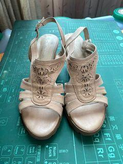 Clay Deman 高跟好穿涼鞋24.5號(久放)