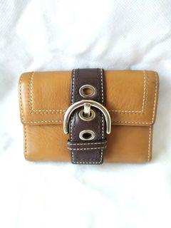 Coach Trifold Brown Wallet