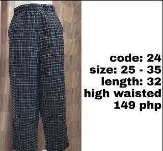 Cotton pants (high waist)