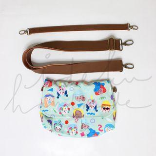 Ideku handmade Mint Sling Bag Face