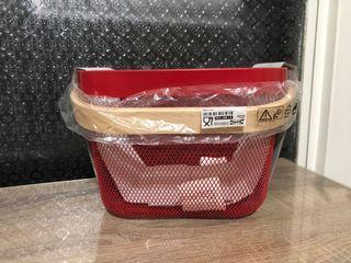 IKEA 紅色置物籃~絕版品