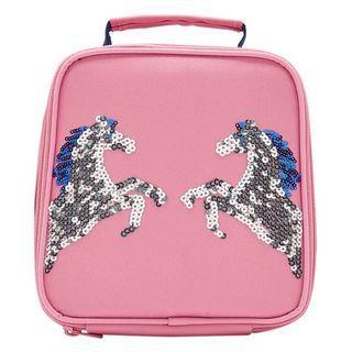 英國🇬🇧Joules女童亮片雙馬粉紅色餐袋