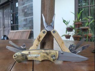 Multi tool + Pisau Lipat Outdoor Krisbow