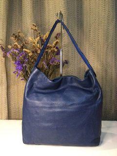 Oroton… Blue Soft Pebbled Leather Hobo
