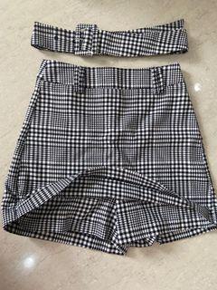 Stadivarius Checkered celana rok