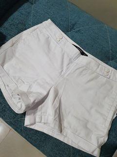 white Mango city shorts