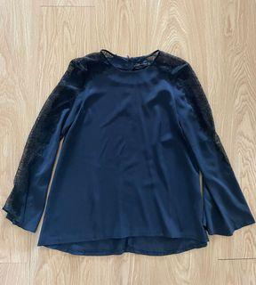 Zara lace knit blouse