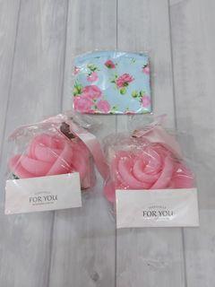 面紙零錢口罩包送玫瑰花辦洗澡球2個