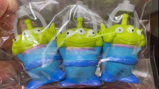 絕版 中古  迪士尼 反斗奇兵 三眼仔 公仔 擺設 擺件 收藏 disney toy story pixar alien figure toys doll 三眼仔 灰色 爪子