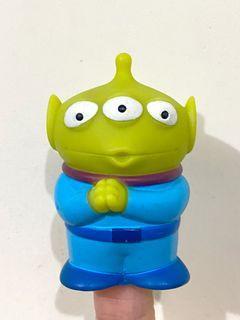 (純分享)絕版 中古  迪士尼 反斗奇兵 三眼仔 公仔 擺設 擺件 收藏 disney toy story pixar alien figure toys doll 三眼仔 恭喜發財 拜拜 手指偶