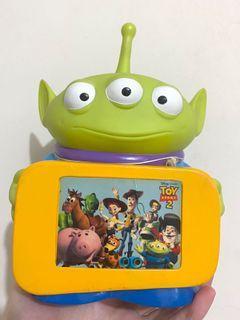 中古 絕版 扭蛋 迪士尼 反斗奇兵 三眼仔 alien 錢罌 錢筒 公仔 擺設 擺件 收藏 disney toy story pixar charm figure toys doll coins bank