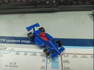 懷舊藍色 F1 跑車  金屬底