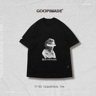 低於原價 GooPi VT-01 Blindfolds Tee (Loose-fit) -Black 2號 聯名 孤僻君