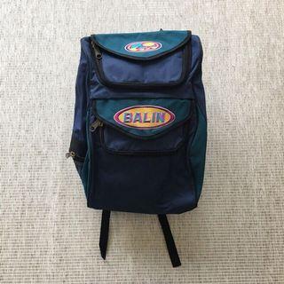古著包 vintage | Balin | 澳洲品牌 早期 復古 山系 藍綠 撞色 全新庫存 美式 刺繡 後背包 背包